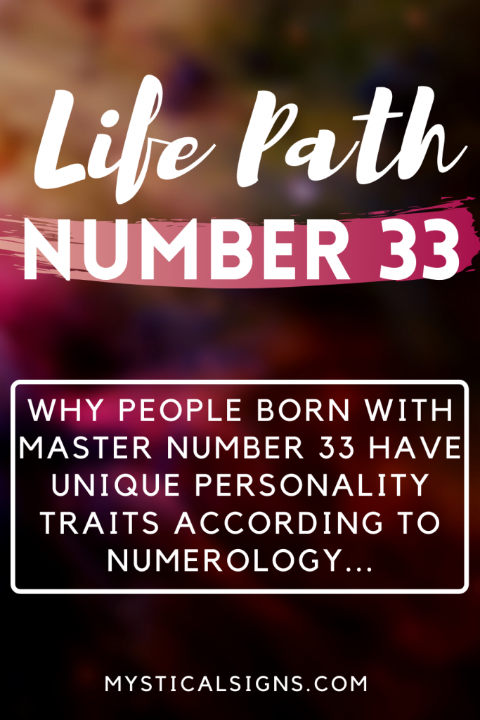 life path number 33